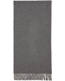 Grey Canada Narrow Scarf