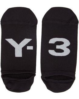 Black Invisible Logo Socks