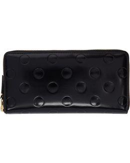Black Patent Polka Dot Continental Wallet