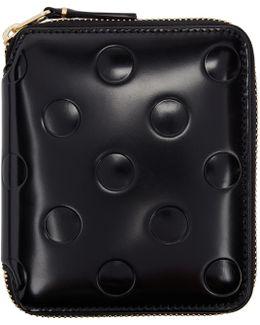 Black Small Polka Dot Continental Wallet