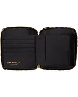 Black Leather Fold Over Wallet