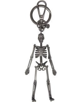 Gunmetal Skeleton Keychain