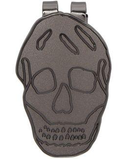 Gunmetal Skull Money Clip