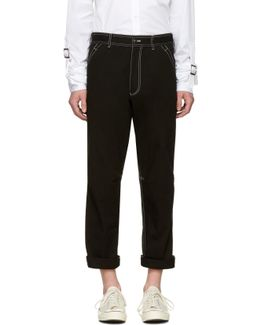 Black Workstitch Trousers