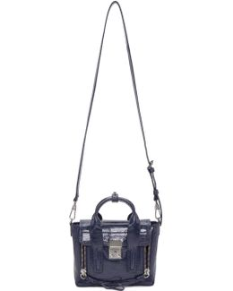 Navy Patent Leather Mini Pashli Satchel