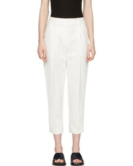 White Tailored Carrot Trousers