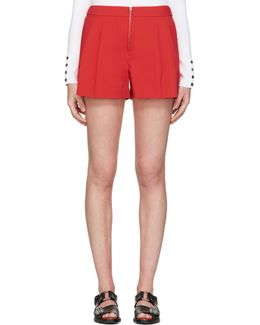 Red Twill Bloomer Shorts