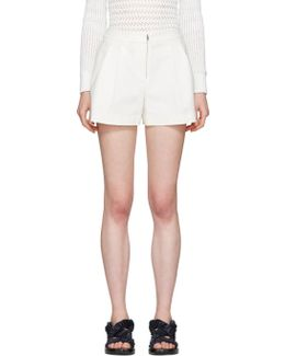 White Tailored Bloomer Shorts