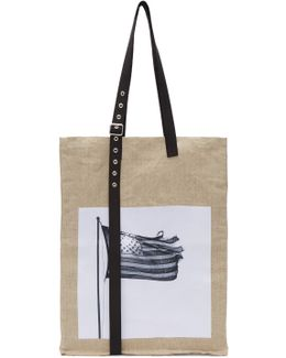 Beige Robert Mapplethorpe Edition Extreme Big Tulips Tote
