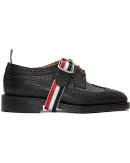 Black Classic Longwing Strap Brogues