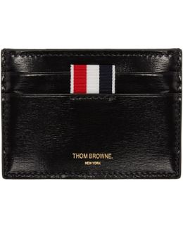 Black Striped Single Card Holder