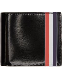 Black Striped Billfold Wallet