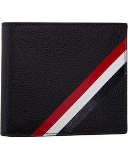 Black Diagonal Stripe Wallet