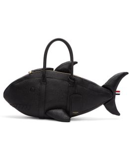 Shark Pebble Leather Tote Bag