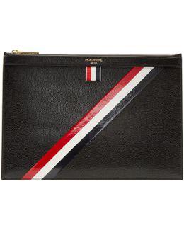 Black Small Diagonal Stripe Tablet Holder