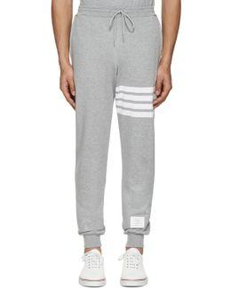 Grey Classic Four Bar Lounge Pants