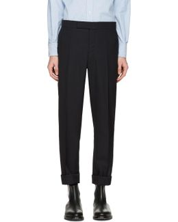 Navy Classic Backstrap Trousers