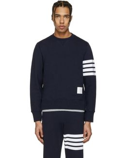 Navy Classic Four Bar Pullover