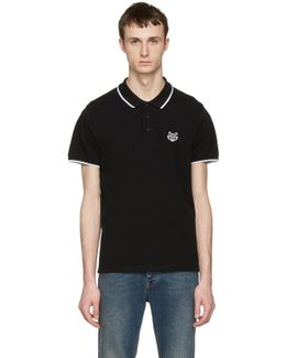 Black Tiger Patch Polo