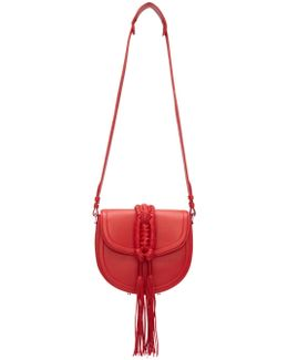 Red Ghianda Knot Saddle Bag