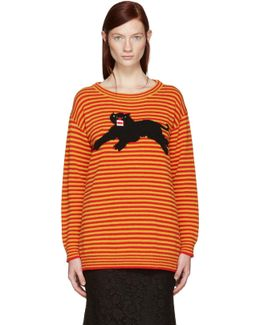 Yellow & Red Striped Puma Sweater