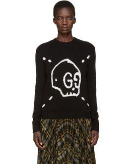 Black Ghost Knit Sweater
