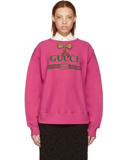 Pink Bow Logo Pullover