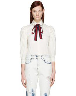 Ivory Ribbon Shirt