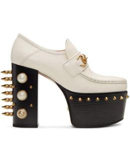 Off-white Vegas Platform Loafer Heels