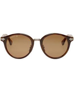 Tortoiseshell Layer Web Sunglasses