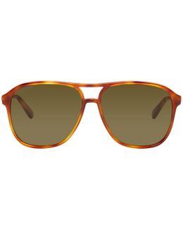 Tortoiseshell Retro Aviator Sunglasses