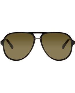 Black Pilot Aviator Sunglasses
