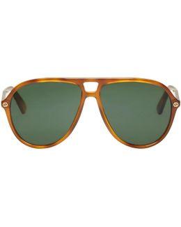 Tortoiseshell Urban Pilot Sunglasses