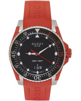 Red & Silver Dive Watch