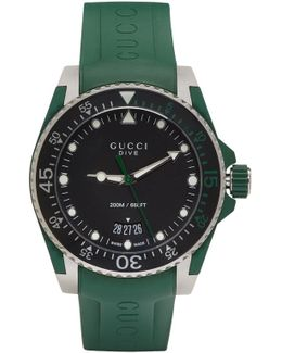 Green & Silver Dive Watch