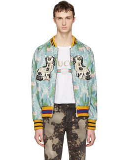 Multicolor Floral Jacquard Bomber Jacket