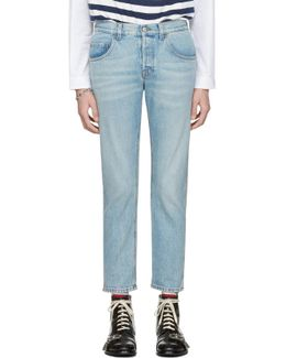 Blue 'loved' Jeans