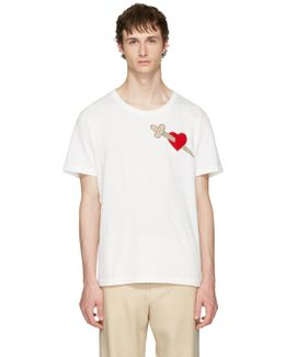White Pierced Heart T-shirt