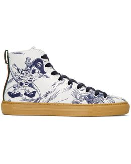 Navy Sea Storm High-top Sneakers