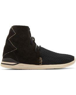 Black Huron Mesh Moc Hi-folk Sneakers