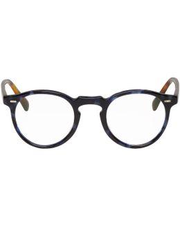 Blue Tortoiseshell Gregory Peck Glasses