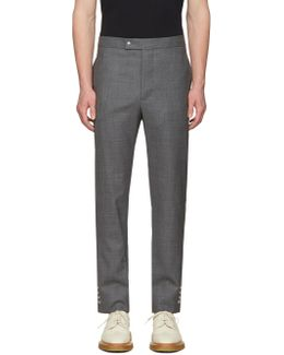Grey Button Cuff Trousers