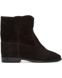 Black Suede Crisi Boots