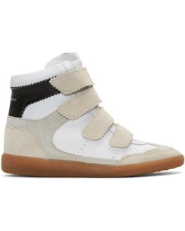Off-white Suede Bilsy Wedge Sneakers