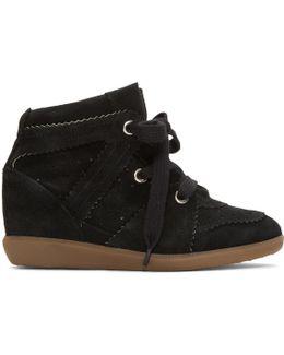 Black Bobby Wedge Sneakers