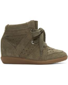 Green Bobby Wedge Sneakers