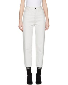 White Levi's Edition Classic High Waist Jeans
