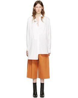 White Cotton Asymmetric Shirt