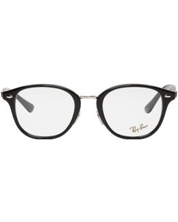 Black Acetate Round Glasses