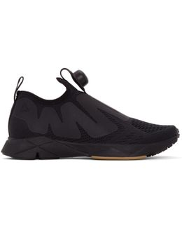 Black Pump Supreme Engine Slip-on Sneakers
